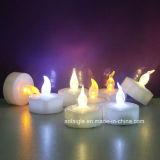Bianco giallo tremulo senza fiamma dello scaldino della candela LED Tealight