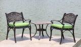 Fundición de aluminio al aire libre del patio de los muebles del jardín 5PCS que cena el vector y sillas determinados de la barbacoa