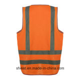 Veste respirável da segurança reflexiva elevada da visibilidade com AS/NZS