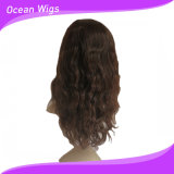 아름다운과 Hot Sale Human Medium Length 100% 인도 Virgin Hair Wig (hw-055)