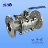 Prix du robinet à tournant sphérique de bride de CF3 3PC Dn40 Pn16