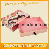 Modèle de papier de boîte-cadeau de carton pour polychrome (BLF-GB016)