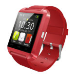 U8手首のBluetoothのスマートなデジタル健康の腕時計の携帯電話はOEMを受け入れる