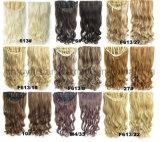 Clip bouclé synthétique de perruque de la Solide-Couleur 1/2 dans la prolonge 7 PCS de cheveu