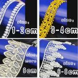 Tela química del bordado del cordón colores rápidos y eficientes de la cooperación de los varios
