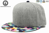 Da era nova do estilo da forma da alta qualidade 2016 tampão liso do Snapback do chapéu de basebol de Hip-Hop com bordado feito sob encomenda