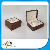 Caja de embalaje del reloj del regalo de madera de papel de encargo de la joyería
