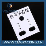Tarjeta de plástico por encargo etiqueta de visualización de joyería (cmg-111)