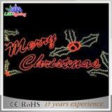 Luz atractiva de la decoración de la carta de la Feliz Navidad de la muestra de la visualización del LED