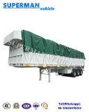 El 13m resistente acoplado de Cargo Van Semi Truck de la pared lateral de 3 árboles