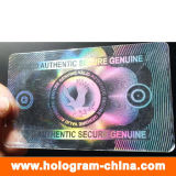 Hologramme transparent fait sur commande de recouvrement de carte d'identification de PVC