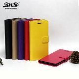 Mode de Shs colorée avec la carte avec le cas en cuir de téléphone cellulaire d'unité centrale de stand pour la note 7