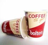 Double tasse de thé de papier de mur avec le couvercle