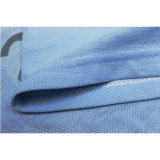 カスタム淡いブルーの綿によって印刷されるポロシャツのポロのTシャツ