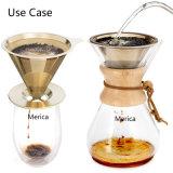 ステンレス鋼のペーパーレスの金はコーヒーDripperに注ぐ