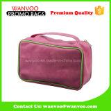 Nettoyer le sac cosmétique de coton de PVC d'article de toilette promotionnel d'unité centrale pour la poche