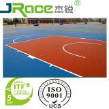 Itf Bescheinigungs-Silikon PU-umwirbt im Freienbasketball-Sport Surfacer