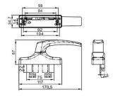 Migliore maniglia di finestra di alluminio funzionale per alluminio