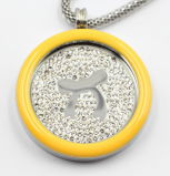 Alta calidad 316L Surgical Stainless Steel Locket Pendant con Enamel Top