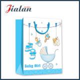 Le modèle mignon personnalisent le sac de papier du bébé 3D estampé par logo de ventes en gros