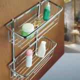 角のステンレス鋼の浴室のアクセサリの純記憶ラック棚(W09)