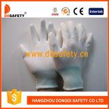 13 запястья руки вкладыша датчика перчатки Dpu109 PU белых Nylon белых Coated