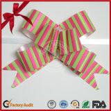 Arco di tiro del regalo con il nastro dei pp per il giorno delle nozze