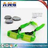 Bracelete tecido costume da tela RFID para o evento