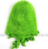 ユニークなタコマスク手作りニットニット冬の帽子、かぎ針編みタコ帽子、かぎ針クトゥルフバラクラバ