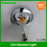 LED Half Chrome Silver Mirror Head Dimmable 8W G125 Filament LED
