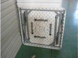 Используемый вне кофеий Tableplastic двери складывая квадратную таблицу