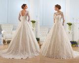 Longues robes 2016 de mariage de chemises de lacet