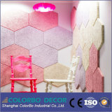 Panneau de plafond acoustique de laines en bois de fibre d'absorption saine