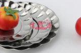 Bandeja redonda Fleury do aço inoxidável (FT-00707)