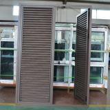 Qualitäts-Puder-überzogenes Aluminiumprofil-örtlich festgelegte Blendenverschluss-Flügelfenster-Tür K06038