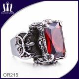 anillo de diamante Titanium de la joyería de la cruz de la vendimia 316L