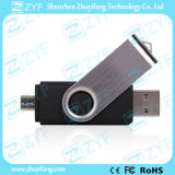 黒い旋回装置の人間の特徴をもつ携帯電話16GB OTG USB (ZYF1623)