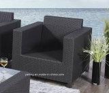 Il sofà di alluminio della mobilia del giardino del Pe-Rattan esterno comodo della mobilia ha impostato dalla singola sede &Double (YT503)