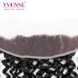 Hochwertiges peruanisches Jungfrau-Haar-lockiges Spitze-Stirnbein