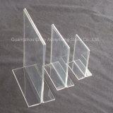 Trophée acrylique de plexiglass de moulage transparent élevé