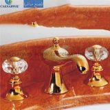 Misturador dourado do Faucet de banheira de 3 séries