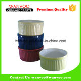 Ronda de la manera colorida torta del molde de cerámica