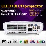 alta qualità di 3LCD 3LED un mini proiettore da 3000 lumen