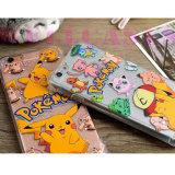 Cheio de borracha Shockproof da tampa/caixa do telefone do coxim de ar de Pokemon Pikachu coberto