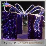 Luz ao ar livre barata do feriado das decorações do Natal do motivo da caixa