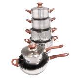 Ensemble de Cookware d'acier inoxydable, ensemble de pot, pot de potage, cocottes en terre