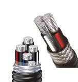 Изолированный XLPE кабель алюминиевого сплава оболочки PVC