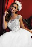 2016 Nouvelle arrivée perlé Cap manches princesse robe de mariée (Dream-100029)