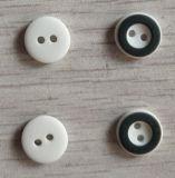 2h 11.5mm Plastic White com Black Button Two Color