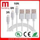 Micro USB al cavo di carico Braided del USB del nylon del cavo 2.0 del USB per il Android